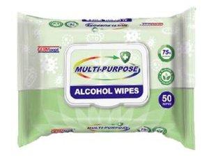 Multi-Purpose Alcohol Wipes 50ct logo